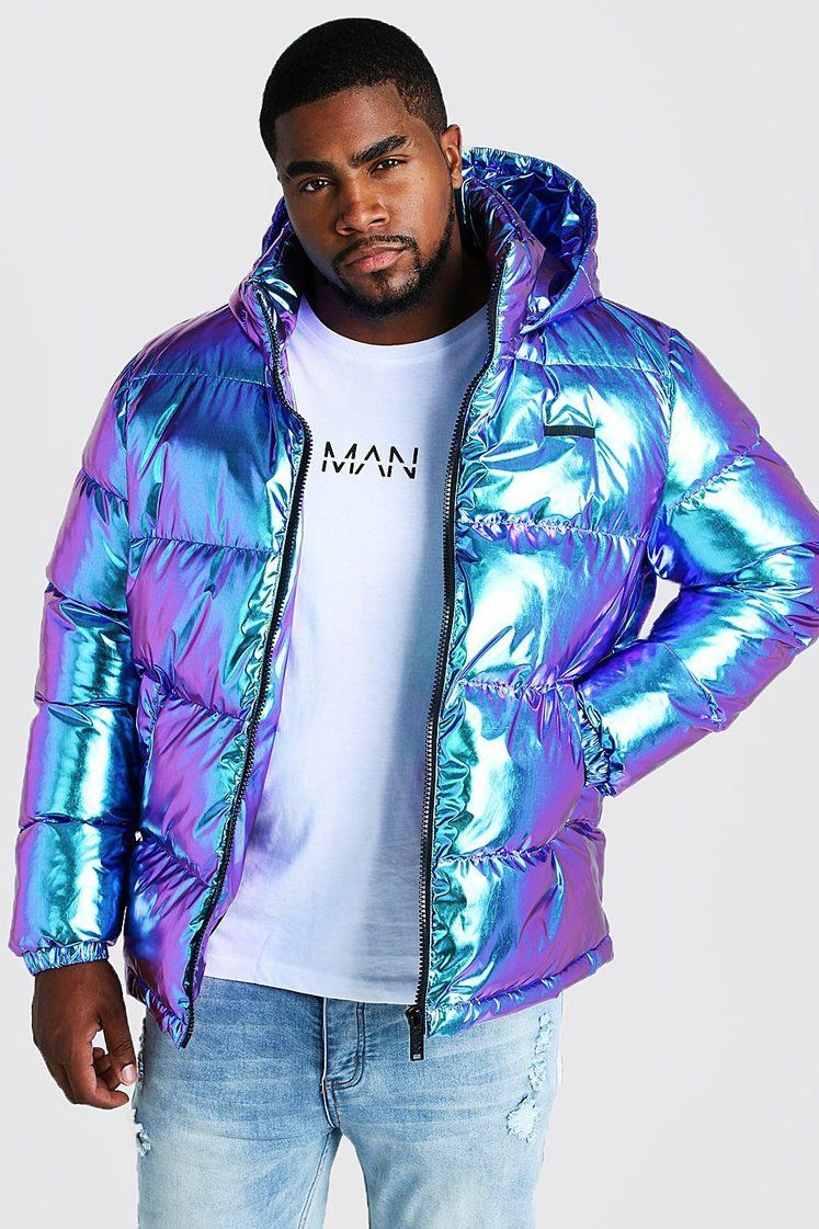 Shop Metallic Puffer Jacket At Boohooman Discover Our Range Of Men S Mens Puffer Jacket Puffer Jacket Outfit Men Mens Puffer Coat [ 1121 x 747 Pixel ]