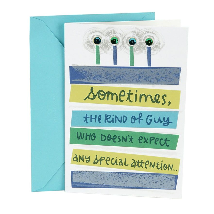 Hallmark Birthday Extra Attention Greeting Card For Him Black