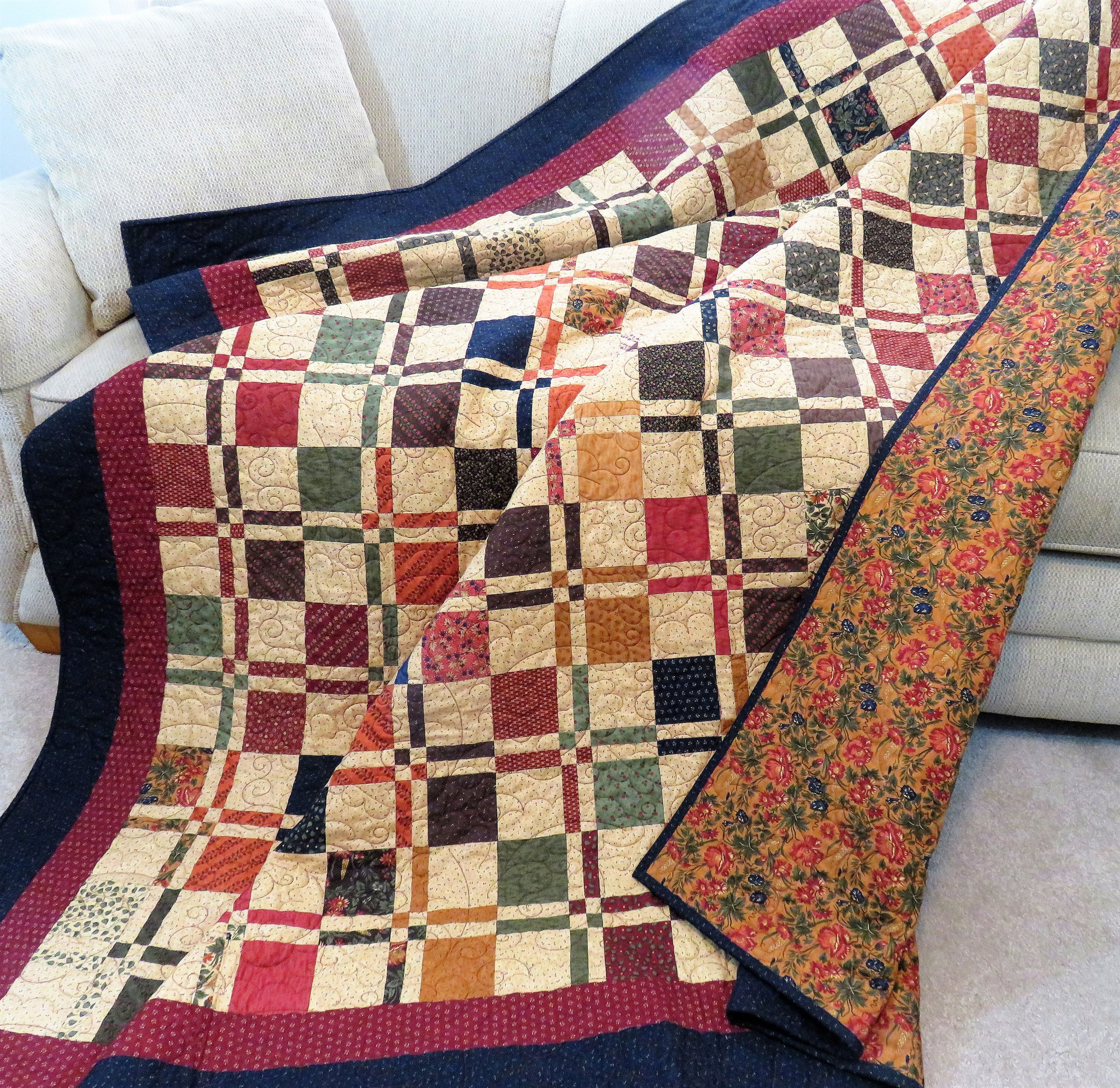 Handmade Quilt For Sale Twin Size Quilt Full Size Coverlet Etsy Handmade Quilts For Sale Twin Quilt Size Quilts For Sale
