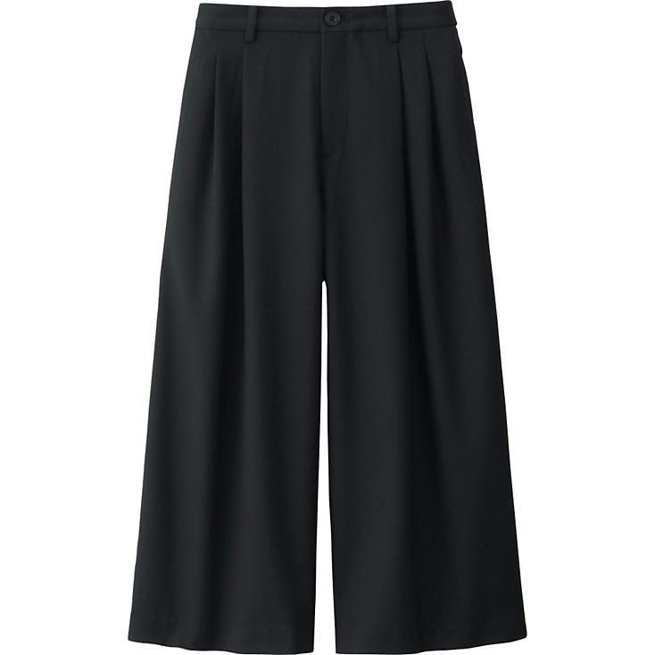 WOMEN WIDE LEG FLARE PANTS | UNIQLO | style | Pinterest | Wide ...