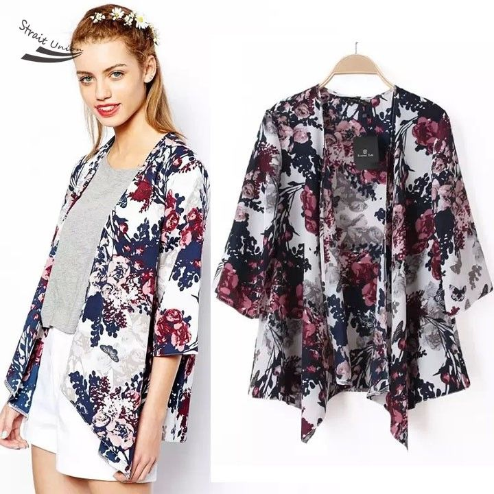 buy 2015 New Fashion Summer Ethnic Floral Print Irregular Loose ...