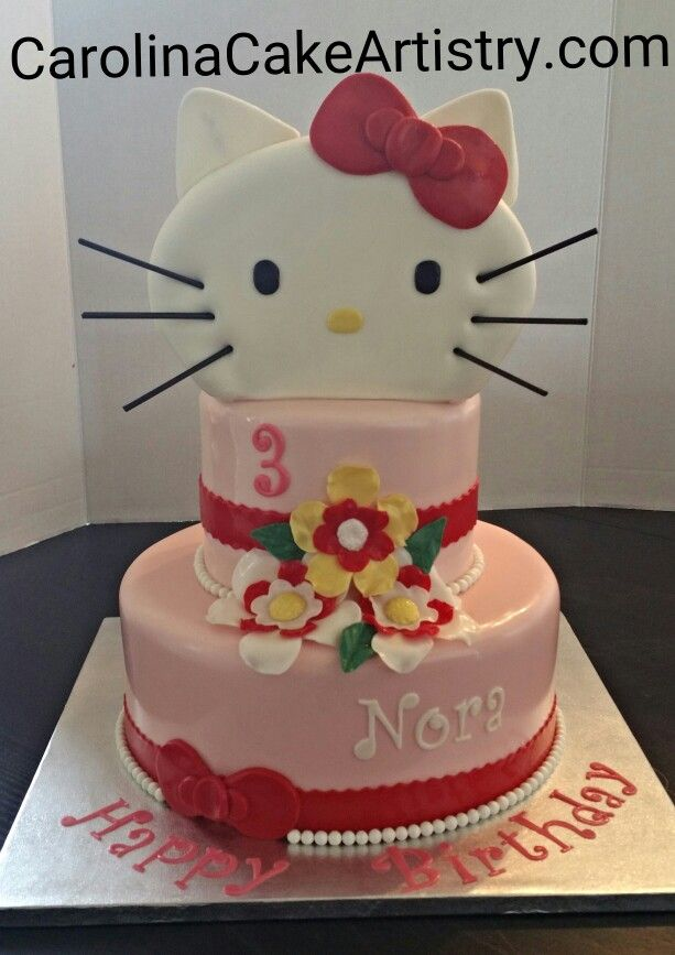 Loved making this Hello Kitty birthday cake So Cute Birthday