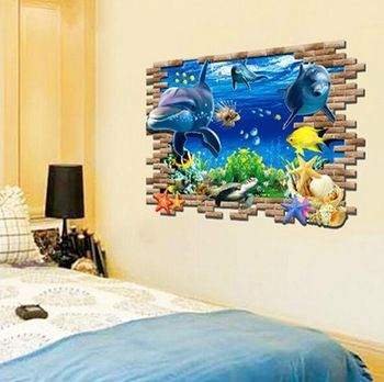 3D Underwater World http://walldecordeals.com/product/new-special-design-3d-effect-underwater-world-dolphin-turtles-background-fashion-wall-stickers-home-decor-decoration/