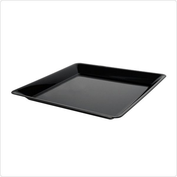 Black 16 X Plastic Square Trays Case