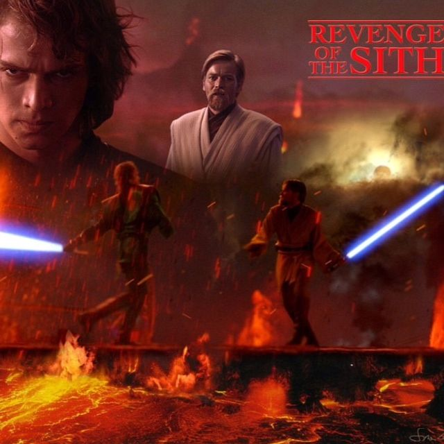 Star Wars Revenge Of The Sith Photo Obi Wan Vs Anakin Mustafar Star Wars Wallpaper Star Wars Images Star Wars Episodes