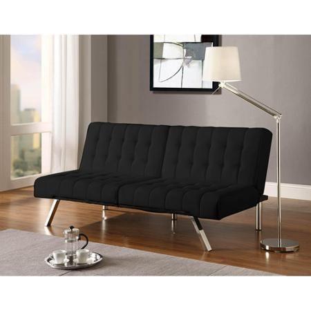 Home Futon Sofa Leather Futon Black Futon