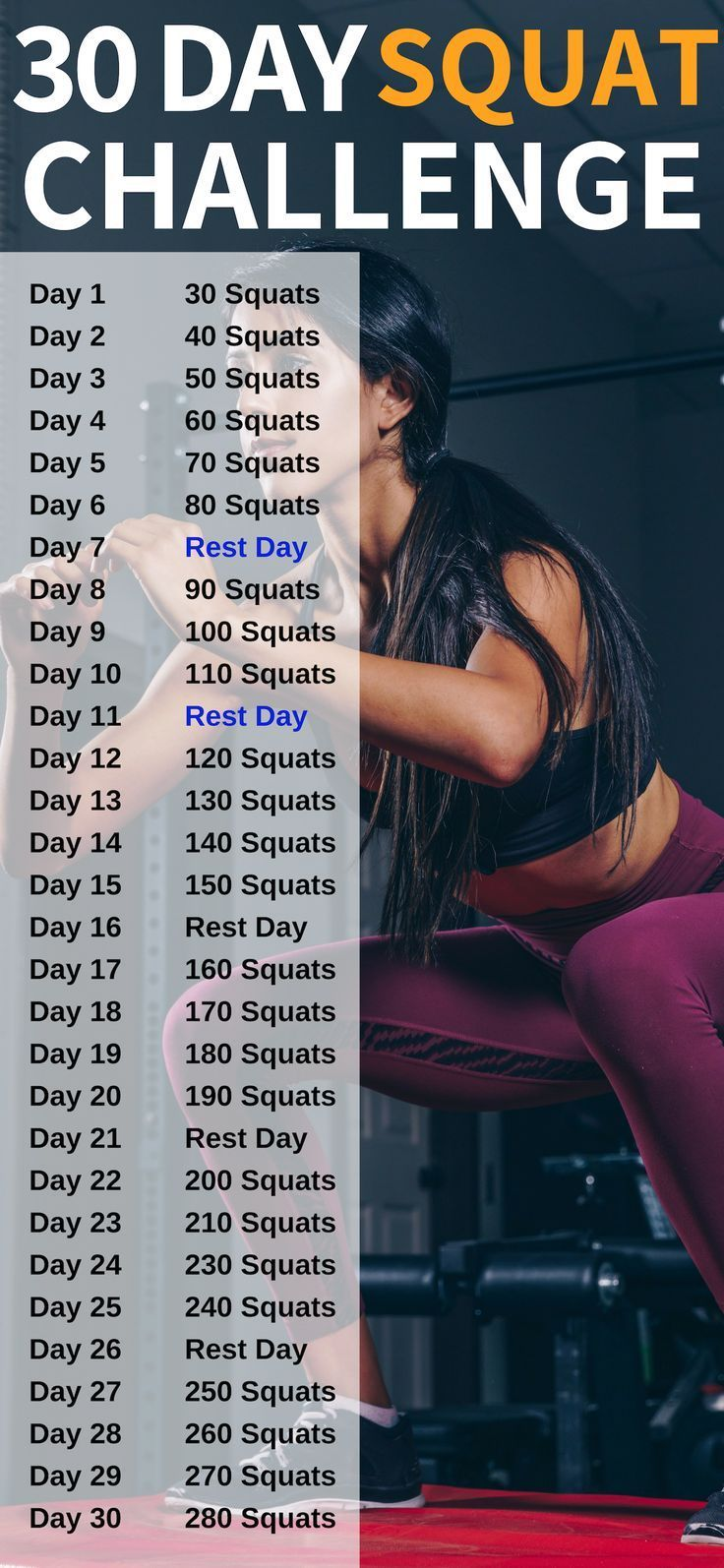 30-tägige Squat Challenge, um deinen Hintern zu verwandeln #pilatesyoga
