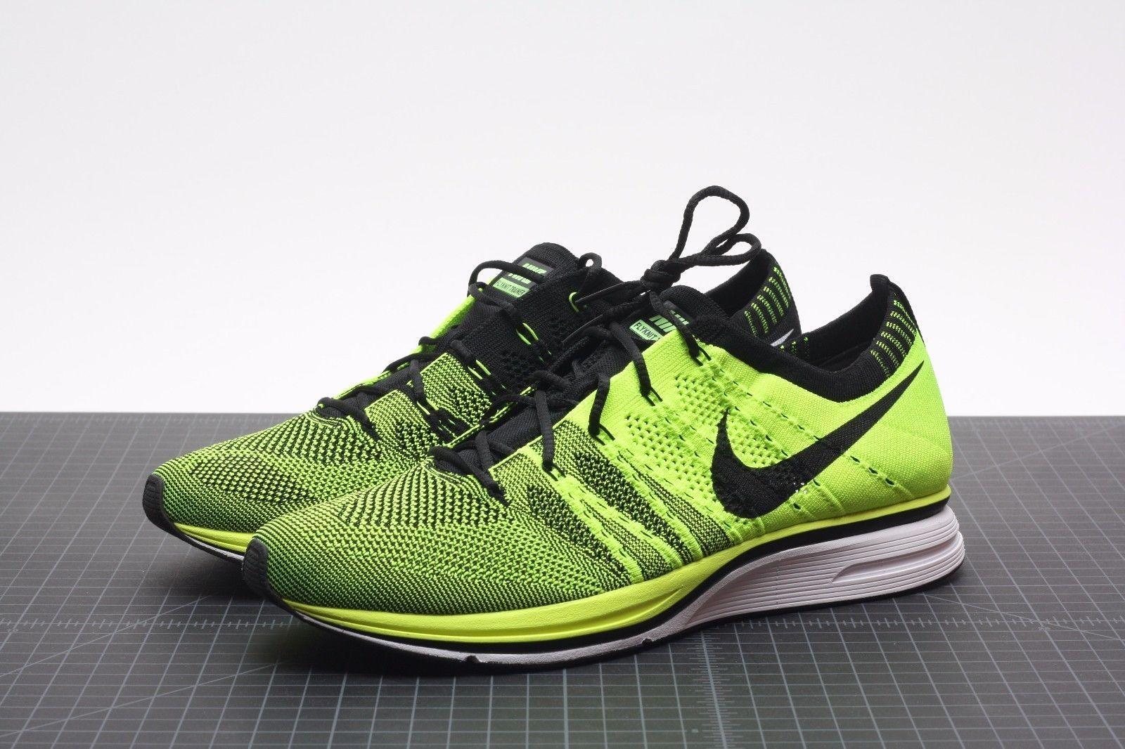 2012 Nike Flyknit Trainer Racer Volt Black Unpadded Olympics 532984-700  size 6.