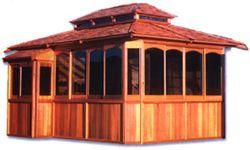 Cascade 9 X12 Cedar Gazebo Scalloped Or Sunburst Window Panes