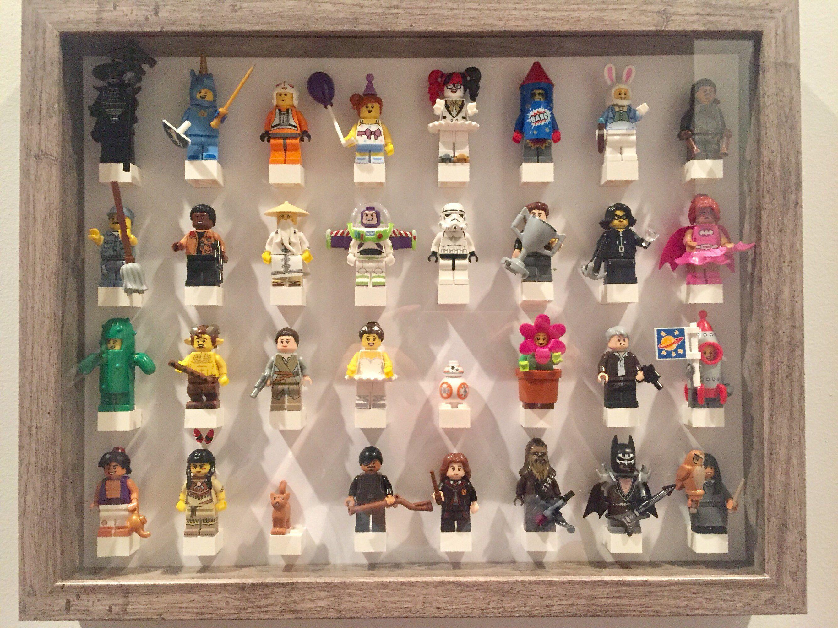 LEGO Figurine Display Case Frame Star wars minifigs