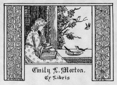 Ex libris by C. A. Morton, 1902 - Pratt Institute Ex Libris Collection