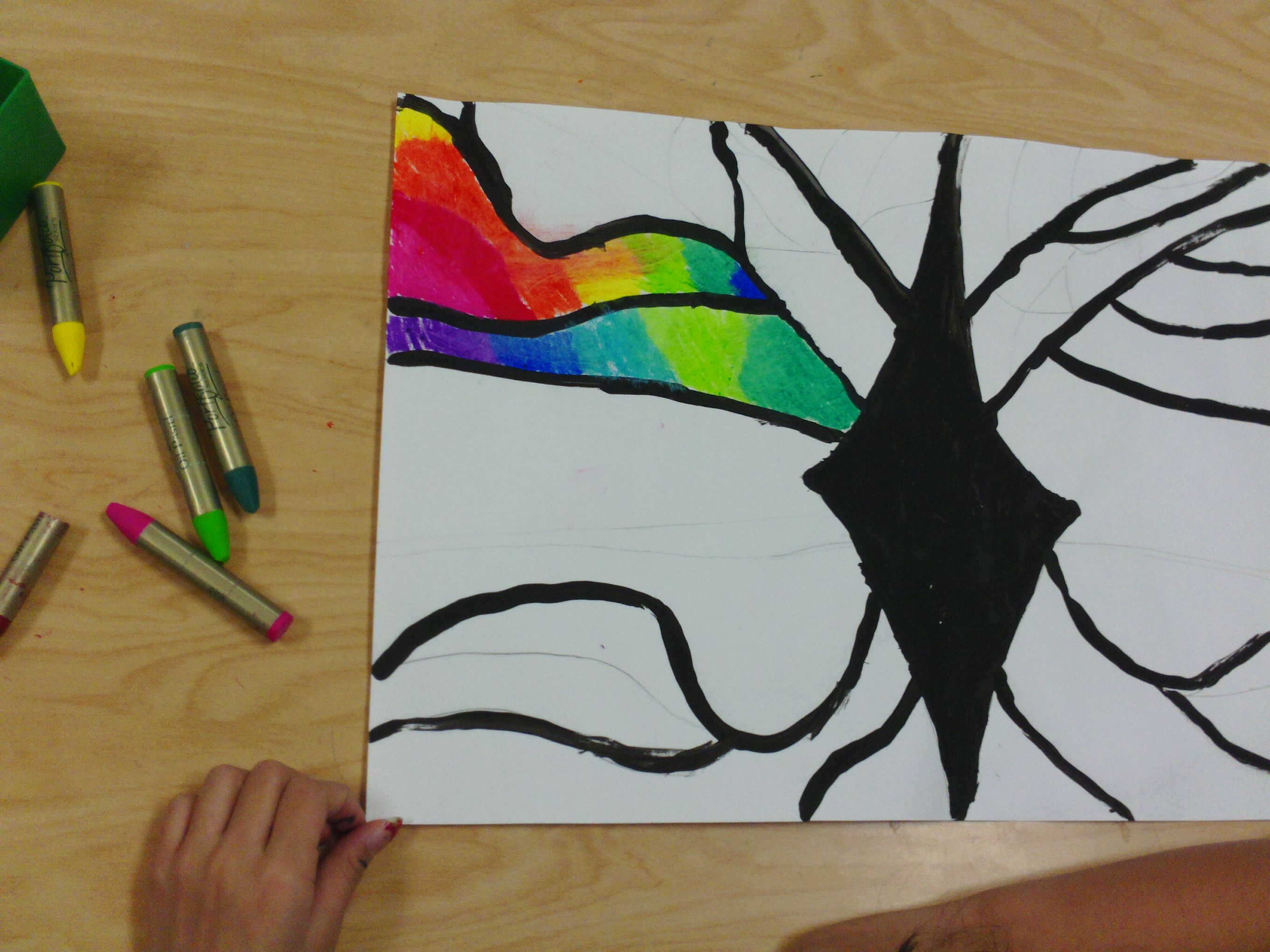 3rd Grade Artists Learn To Blend Analogous Colors Together