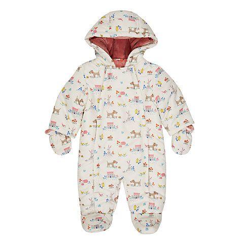 250720b0b Buy John Lewis Baby Leckford All-Over Print Snowsuit