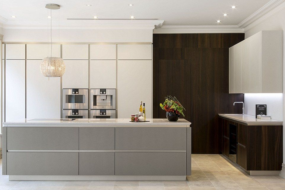 The Bespoke Italian Kitchen Features A Chandelier Which Cleverly Doubles As An Extractor