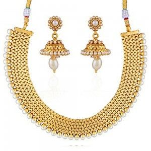 34a8d615e5 Buy Pissara Modish Gold Plated Necklace Set For Women Online ...