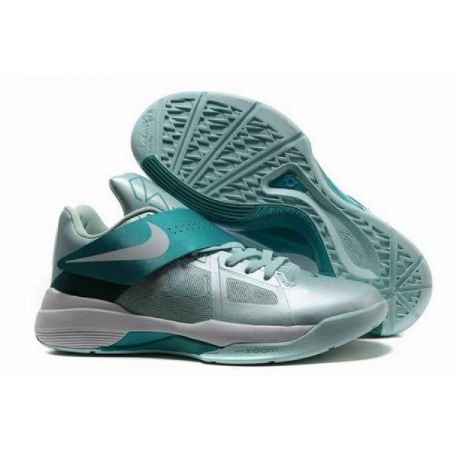 New Arrival Nike Zoom Kevin Durant New KD IV Men Emerald Basketball Shoes  1008 For $65.70