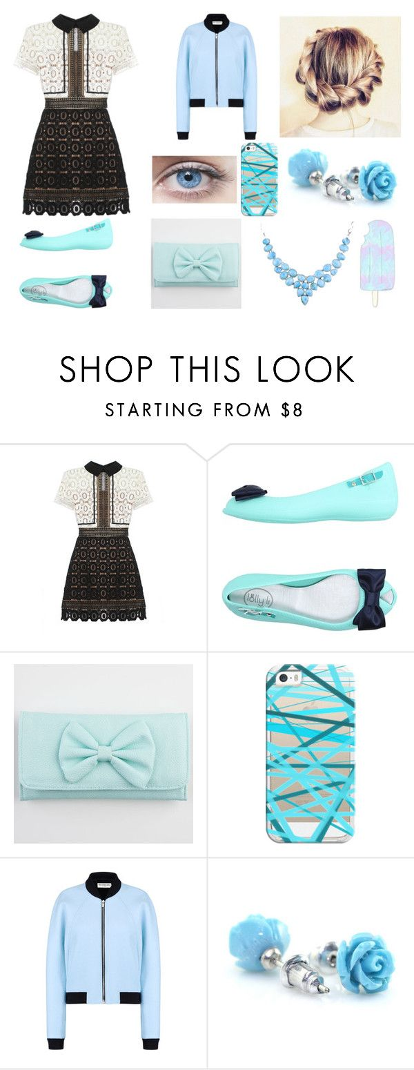 """""""I Got My Light Blue Life Together"""" by egordon2 ❤ liked on Polyvore featuring self-portrait, Casetify and Balenciaga"""