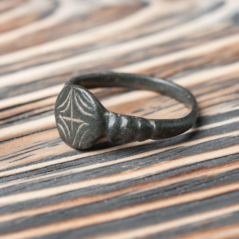 Antique Medieval Bronze Ring c. 15th16th Century Ancient