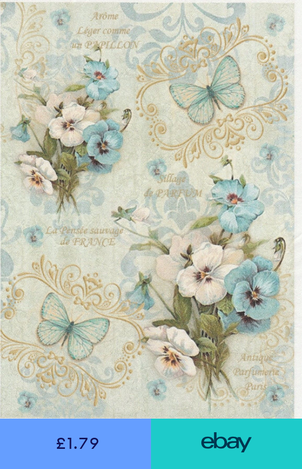 4x Paper Napkins for Decoupage Craft and Party Face to face