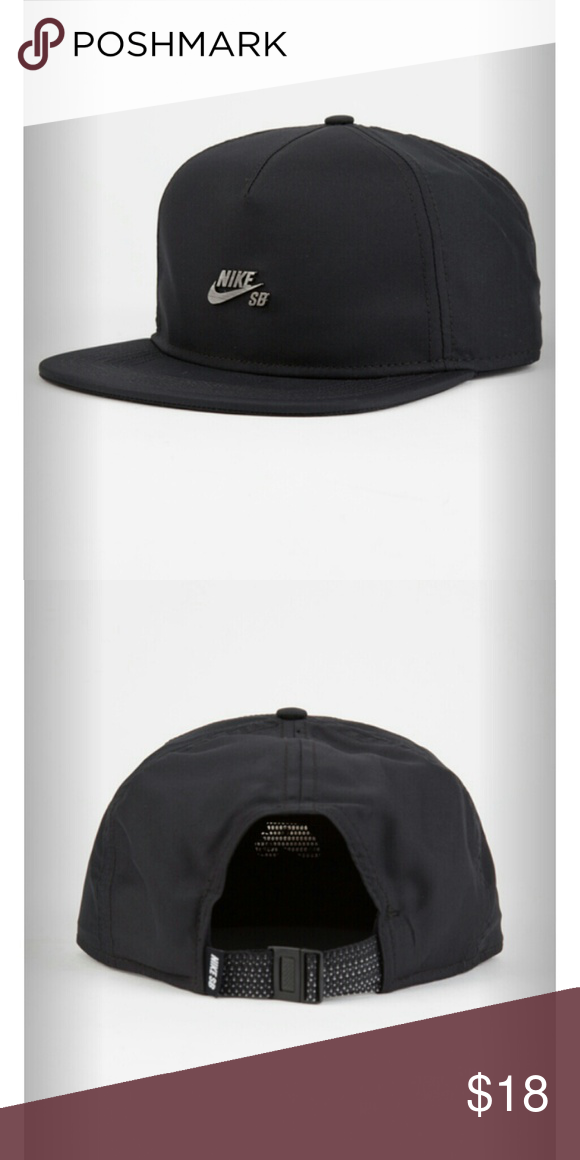 NIKE SB Dri-FIT Performance Unisex Strapback Hat Nike SB Dri-FIT  Performance strapback hat. Metal Nike SB plaque at front panel. Adjustable buckle  strap. 7bb4a0fc382