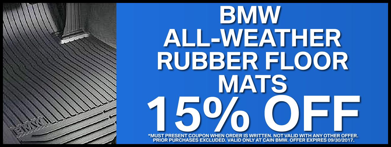 Present this coupon to receive a BMW oil change at Cain BMW for - coupon disclaimers