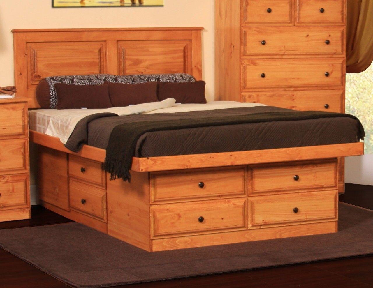 Gothic Craft Riverdale Platform Storage Bed