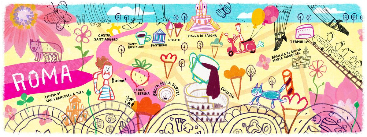 Roma Italia They Travel Draw Is A Cool Website With Fun - Rome map cartoon