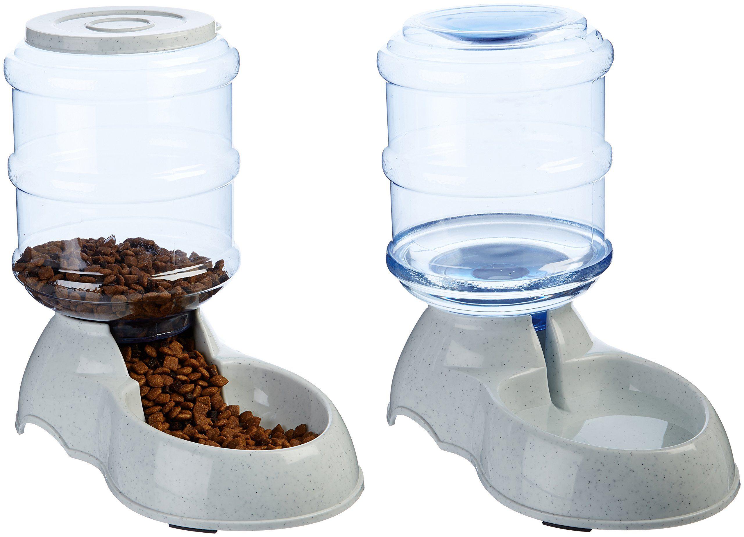 Amazonbasics gravity pet feeder and waterer bundle small