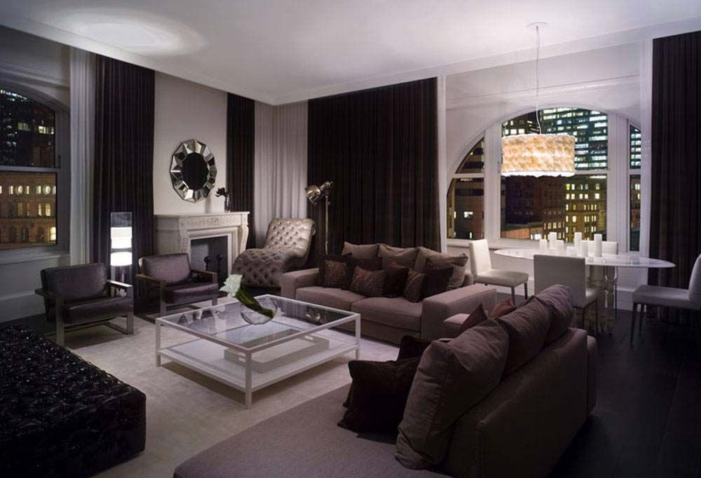 The black sofas make this decor extremely exquisite in itself the