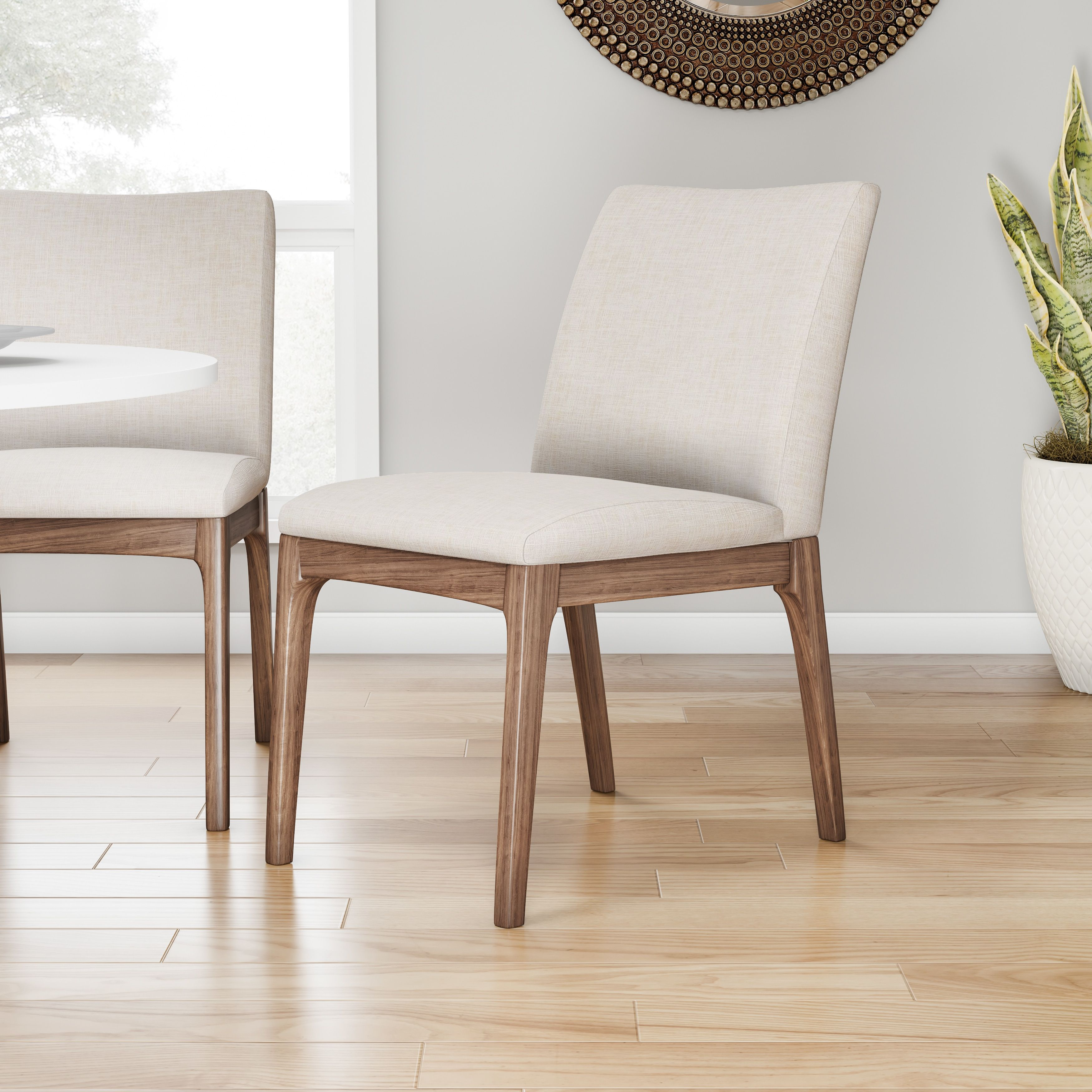 Carson Carrington Simple Living Element Mid Century Dining Chairs (Set Of  2)   N/A (Element Mid Century Dining Chair), Brown Walnut