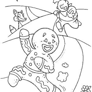 Gingerbread Men, Gingerbread Men Runaway Fro Chef Coloring Page ...