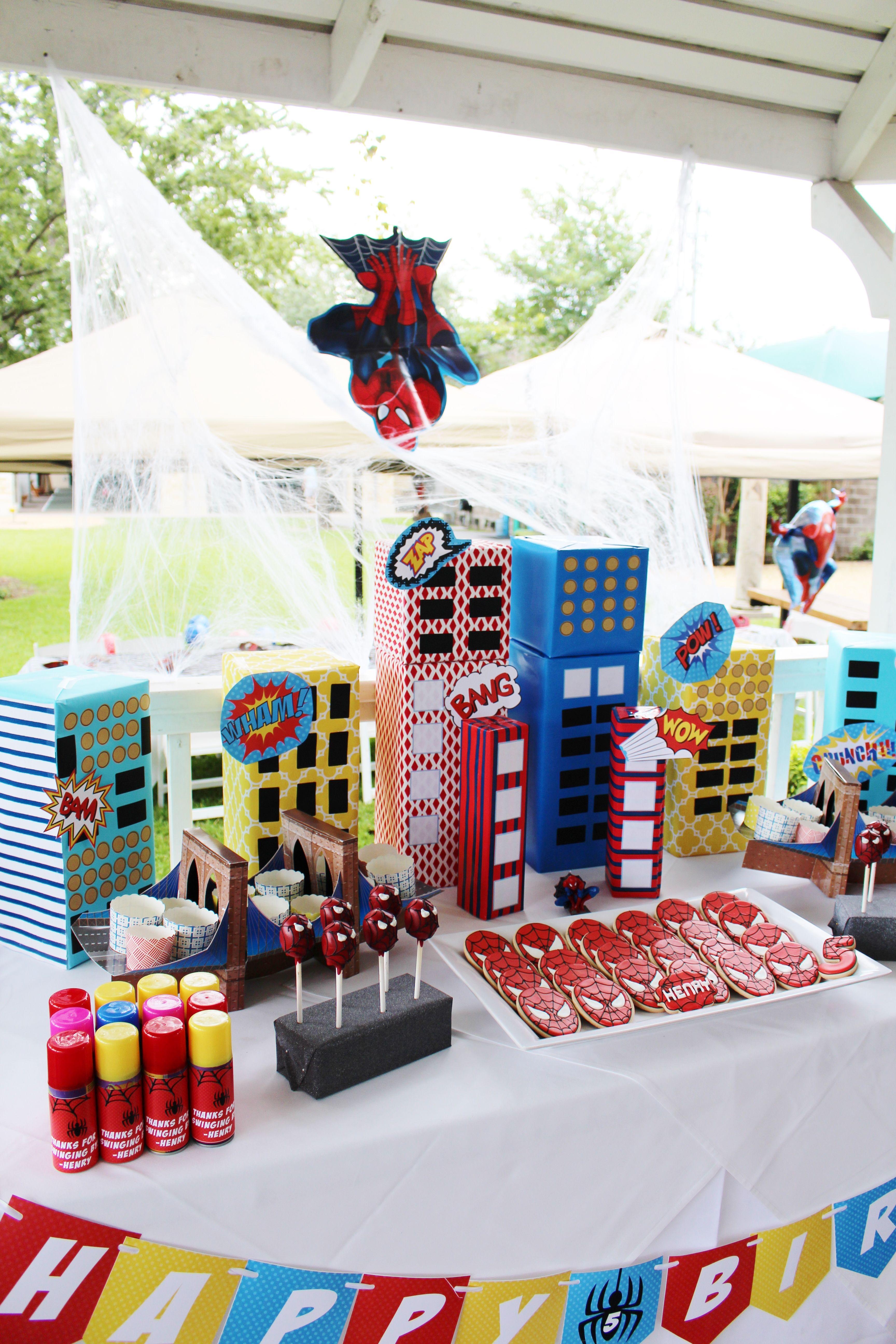 Spiderman Birthday Party Ideas Decorations Theme