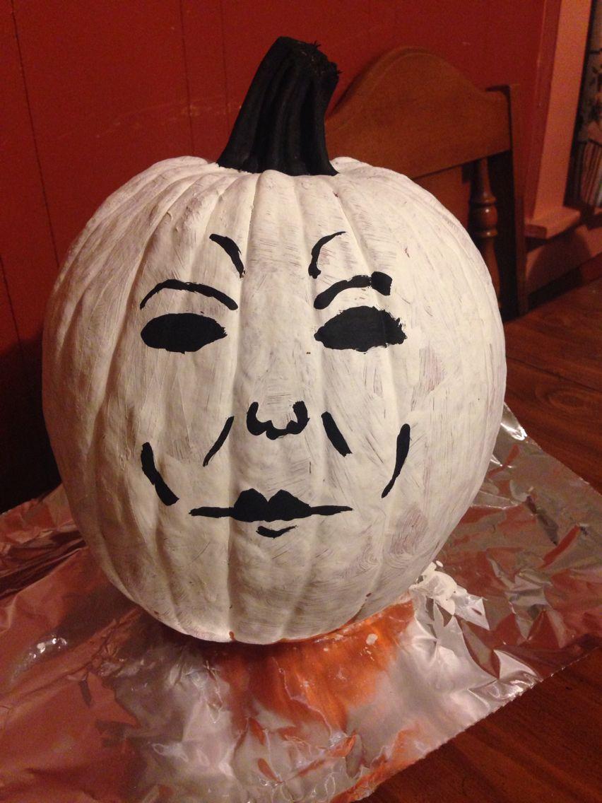 Painted Pumpkins. Michael Myers. Painted pumpkins