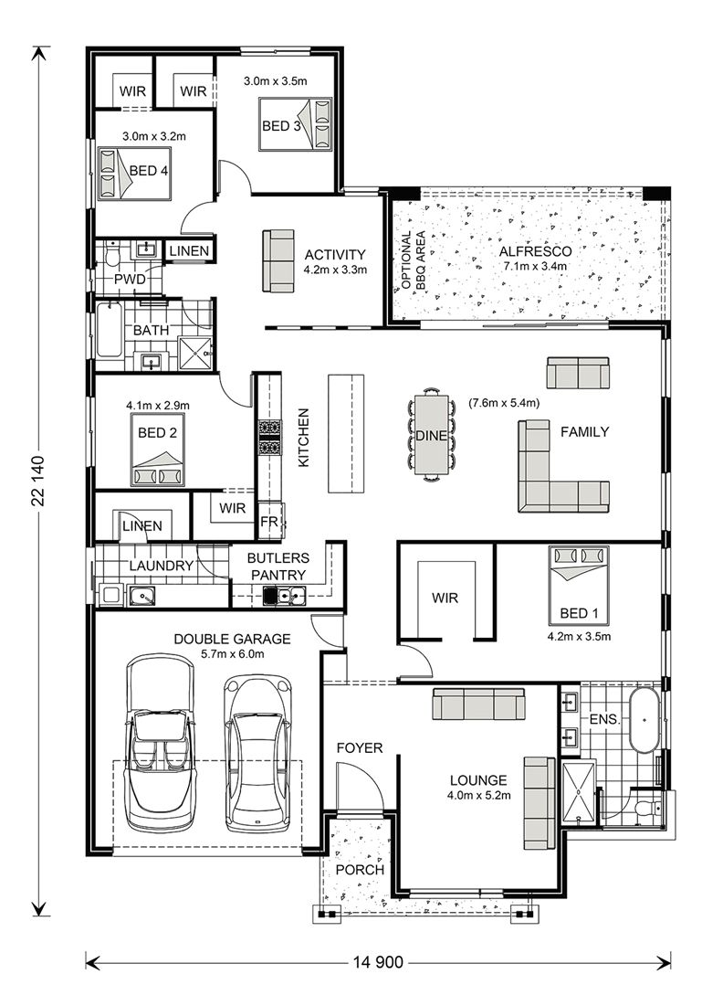Pin By Bright Atoe On Architecture Floor Plans Custom Home Plans Custom Design House Plans House Layout Plans