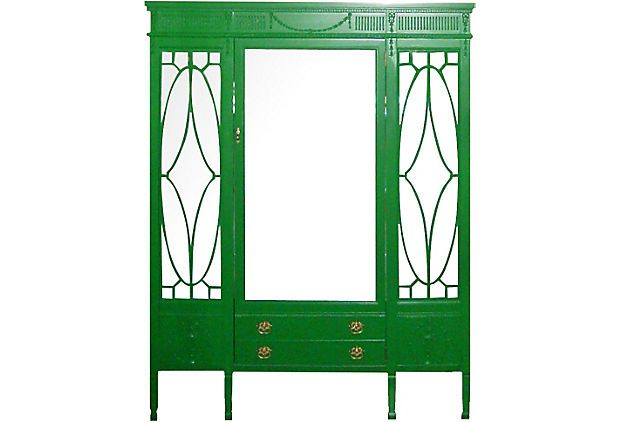 Robert Mitchell Lacquered China Cabinet   One Kings Lane   Vintage U0026 Market  Finds   Furniture