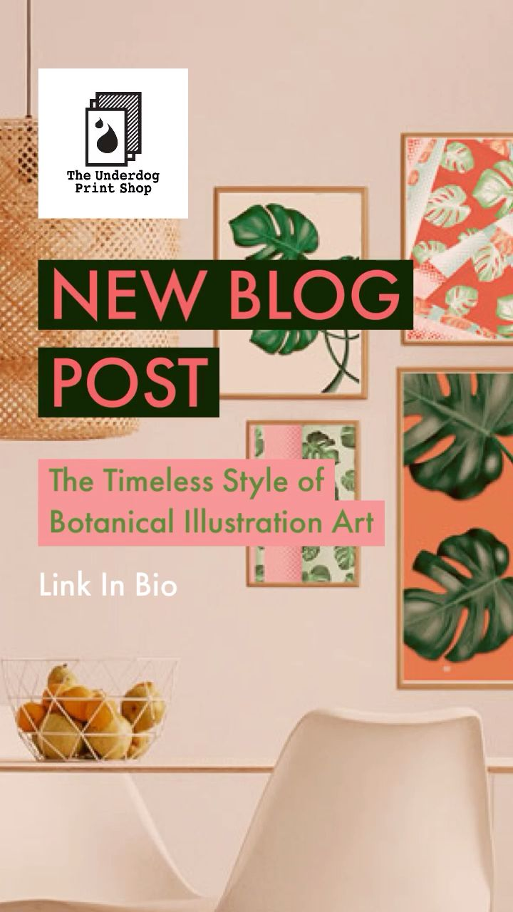 In this blog post, we want to discuss the ever-present status of botanical illustration art.  Used in a wide range of disciplines from beautiful home prints to scientific illustration posters, this style of design has fascinated intrepid home stylists for years. #botanicalart #homedecor #artprint #wallart #houseplants #homedecorblog