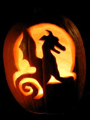 Carved Dragon Pumpkin By Marti L Via Flickr Cute Carving