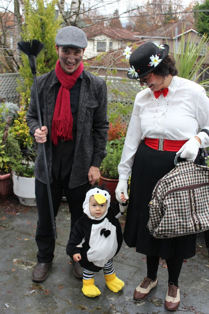 Mary Poppins Bert (the chimney sweeper) and Penguin halloween costume idea for family  sc 1 st  Pinterest & Mary Poppins Bert (the chimney sweeper) and Penguin halloween ...