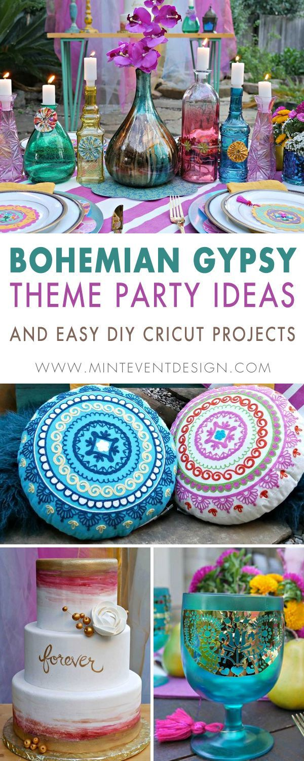 How to DIY a Bohemian Gypsy Themed Party with a Cricut — Mint Event Design