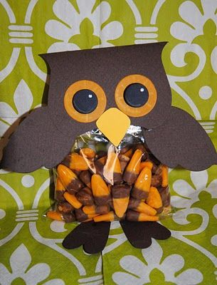 Diy owl party favors could be any combo of colors for baby showers diy owl party favors use for bags of candied pecans negle Image collections