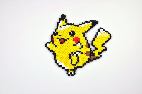 Pikachu Pokemon Magnet Perler Bead | Products | Pokemon