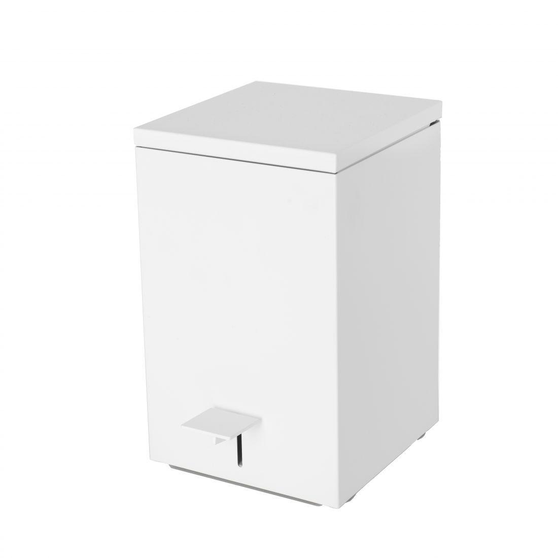 Pedal bin Stainless steel, white matt bathroom