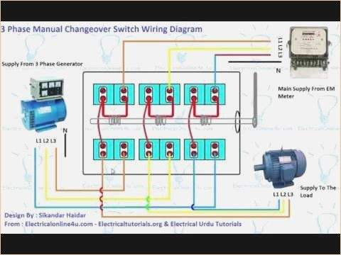 3 Phase Manual Changeover Switch Wiring Diagram Generator ...