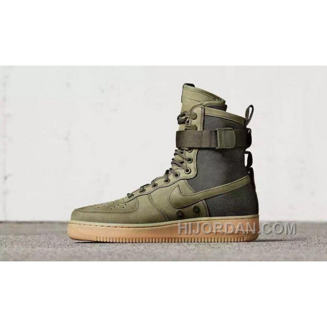 Nike Air Force 1 High Military Green Double Buckles Lastest