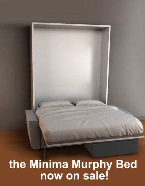 The Minima Murphy Bed is a stylish solution for comfortable sleep and on sale right now at Expand Furniture. Check our space saving furniture out today.