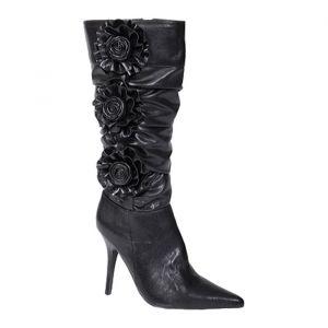Adi Designs Barc 2 Stiletto Heels Womens Black Leather - ONLY $79.95