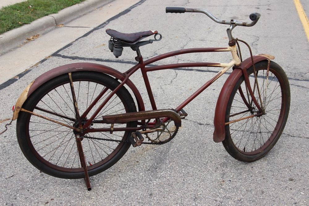 Details about 1930s ELGIN PREWAR BALLOON TIRE BICYCLE