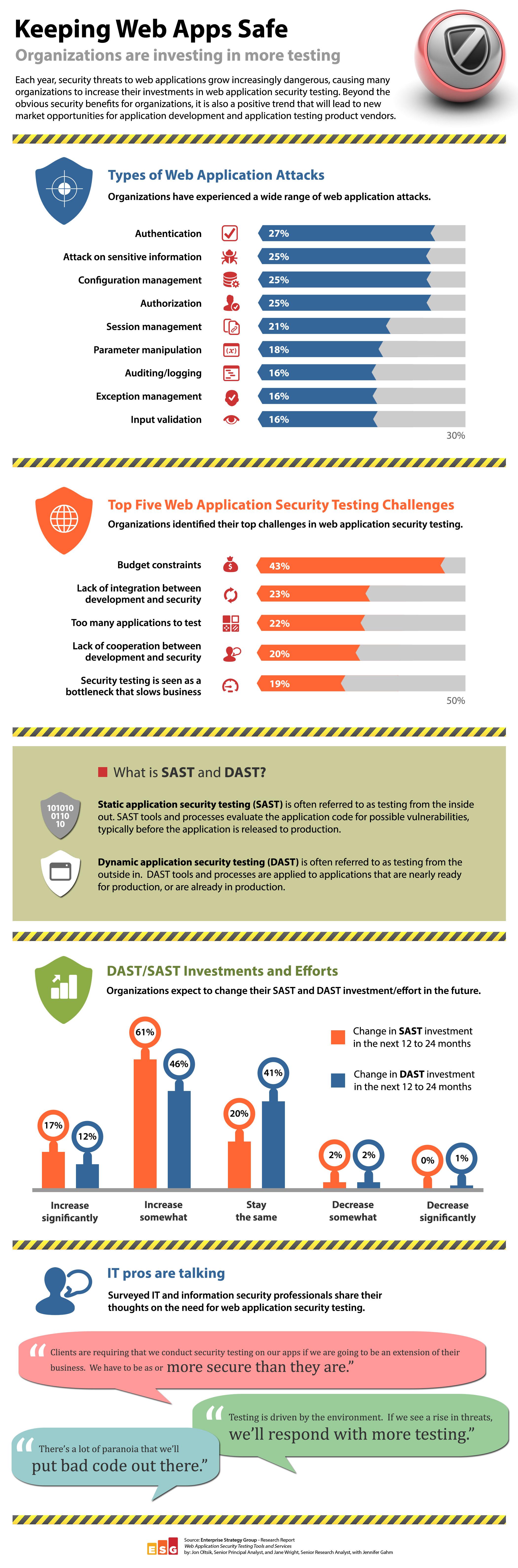 Web Application Security Testing ESG Infographics