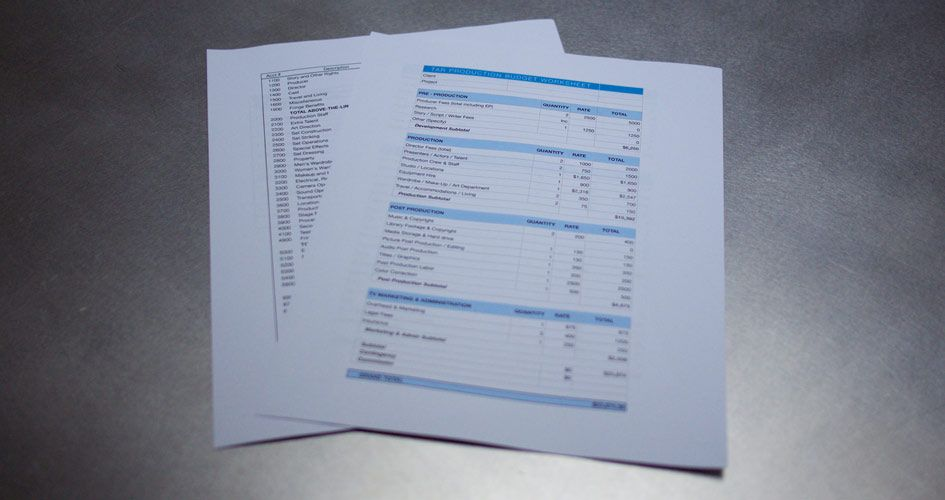 Pin by dms productions on agency budget template