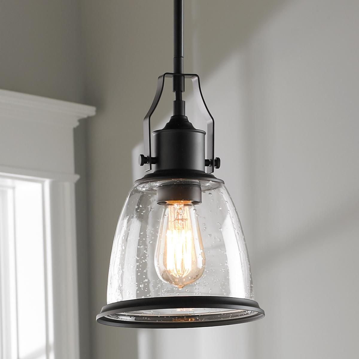 Kitchen Pendant Lighting Glass Shades Classic Bell Shade Pendant In 2019 Industrial Chic